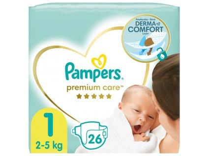 Pleny Premium Care 1 NEWBORN 2-5kg 26 ks Pampers
