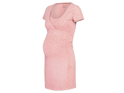 NOPPIES Košilka noční těhotenská krátký rukáv Suzy S Silver Pink