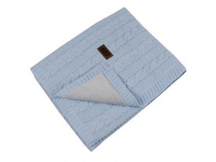 PLE-41 deka z pleteniny klasy + kožešina BLUE