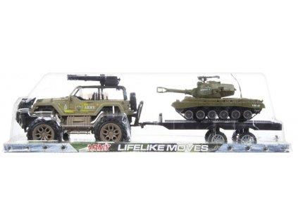 Vojenské auto s příslušenstvím MEGA CREATIVE 459844 Vojenské auto s příslušenstvím MEGA CREATIVE 459844