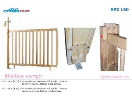 Schodová zábrana Alfa plus 94-140 cm s možností otevírání Schodová zábrana Alfa plus 94-140 cm s možností otevírání