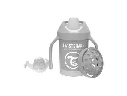 TWISTSHAKE Hrnek učicí 230 ml (4m+) pastelově šedá