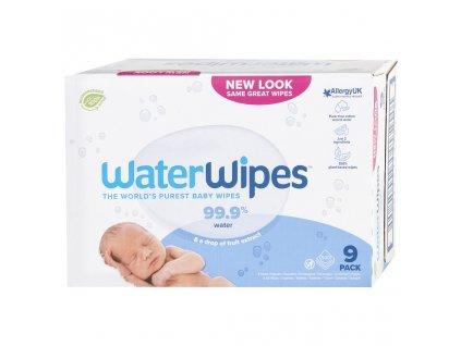 9x WATERWIPES 100% BIO odbouratené ubrousky 60 ks
