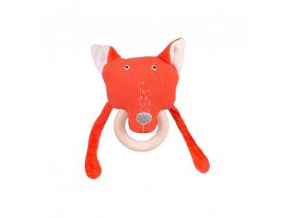Chrastítko s dřevěným kousátkem Funky Fox