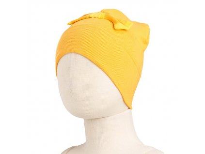 MM ECO 16 čepice mašle biobavlna Lemon Pie
