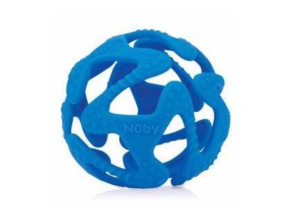 NUBY Kousátko silikonový míč tmavě modrý 3 m+