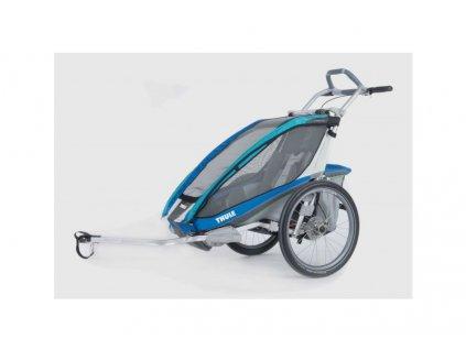 THULE CTS CX1 BLUE DISC + BIKE odpružený a bržděný vozík za kolo s bočním větráním