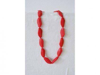 MIMIKOI - Kojící korále dlouhé kameny čevené