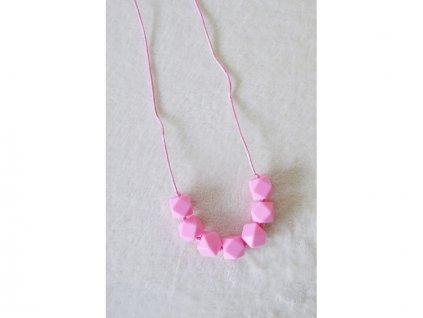 MIMIKOI - Kojící korále veselé kamínky růžové