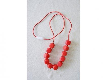 MIMIKOI - Kojící korále kostičky červené