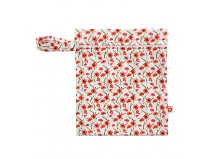 Nepromokavý pytlík XKKO Velikost S - Red Poppies