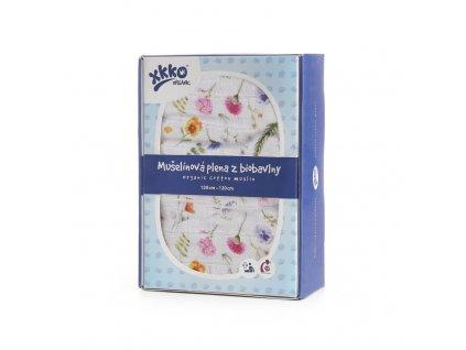 Biobavlněná plena XKKO Organic 120x120 - Summer Meadow