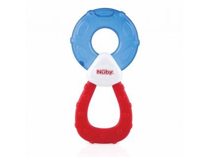 NUBY Kousátko chladící s destilovanou vodou 3m + modro-červená