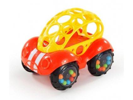 Hračka autíčko Oball 3m+, červené