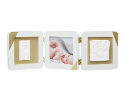 Gold Dipped Frame Double White