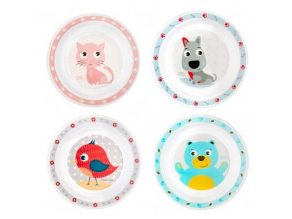 Canpol babies Plastový talíř CUTE ANIMALS