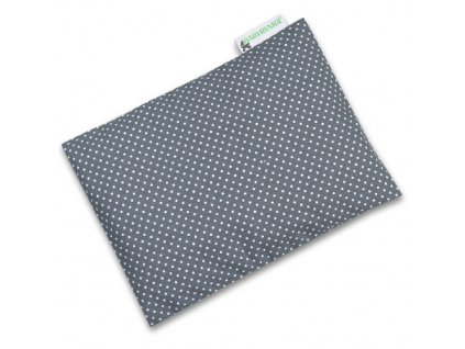 Babyrenka nahřívací polštářek z pohankových slupek s povlakem 20x14 cm Dots grey