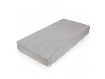 CEBA Prostěradlo Žerzej napínací s gumou 120 x 60 Light Grey Melange