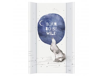CEBA Podložka přebalovací 2-hranná MDF 80x50cm Watercolor World Born to be wild