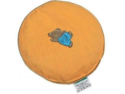 Babyrenka nahřívací polštářek z třešňových pecek Kolečko 16 cm Bear orange