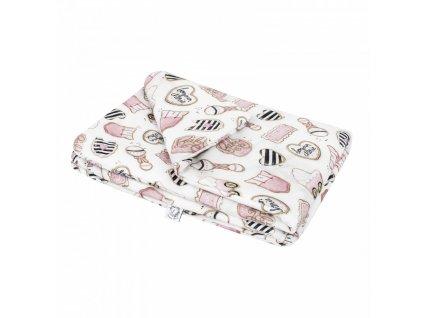 Bonjour Chérie - bambusová deka malá 65x75 Baby shower