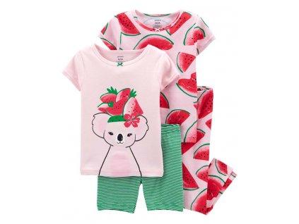 CARTER'S Pyžamo dlouhé a krátké kalhoty, krátký rukáv 2ks Watermelon dívka 18m