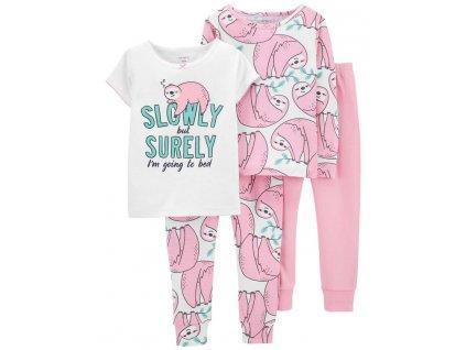 CARTER'S Pyžamo krátký a dlouhý rukáv Sloth dívka 2ks 12m