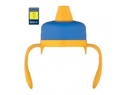 Měkké pítko pro kojeneckou termosku a láhev – modrá