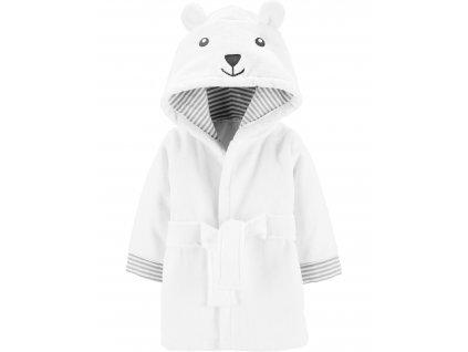 CARTER'S Župan s kapucí s oušky White Bear neutrál LBB 0-9m, vel. 74