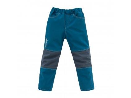 ESITO Dětské softshellové kalhoty DUO vel. 80 - 92 - 80 / petrolejová