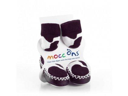 XKKO Mocc Ons baleríny COW bílé 6-12m