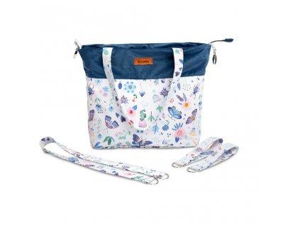 Sametová taška Sensillo vážky, modrá