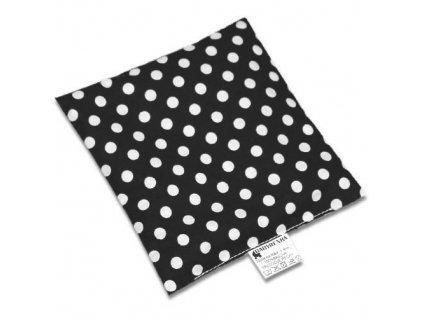 Babyrenka nahřívací polštářek 15x15 cm z třešňových pecek Puntík black