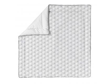 Baby Dan bavlněná hrací matrace Harmony Baby Grey, 100x100 cm