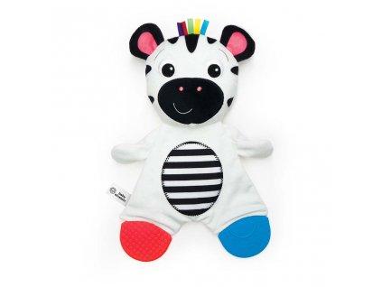BABY EINSTEIN Kousátko plyšová senzorická Zebra Zen ™ 0m +