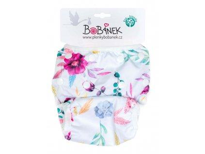 Bobánek Rostoucí plavky pro miminka - Růžové květiny