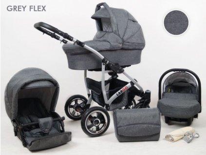 Kombinovaný kočárek Raf-pol Largo 2019 Grey Flex 25