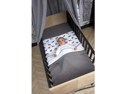 zebra puntík deka harringbone