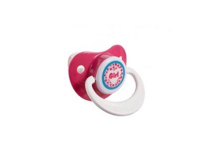 Bebe-Jou Dudlík-silikon 6+M Bébé-Jou Girl Růžová