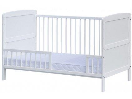 Válendová bočnice k postýlce 140 cm - bílá