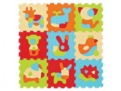 Puzzle pěnové 90x90 cm Zvířátka