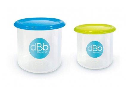dBb Remond dBb Sada 2 misek ke zmrazení 190 a 300 ml s víčky