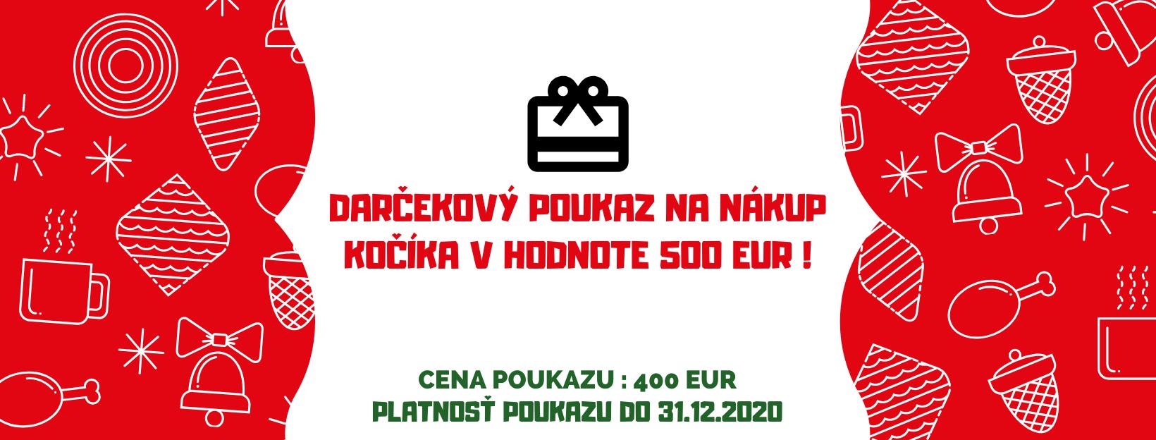 Darčekový poukaz v hodnote 500 eur cena 400 eur !