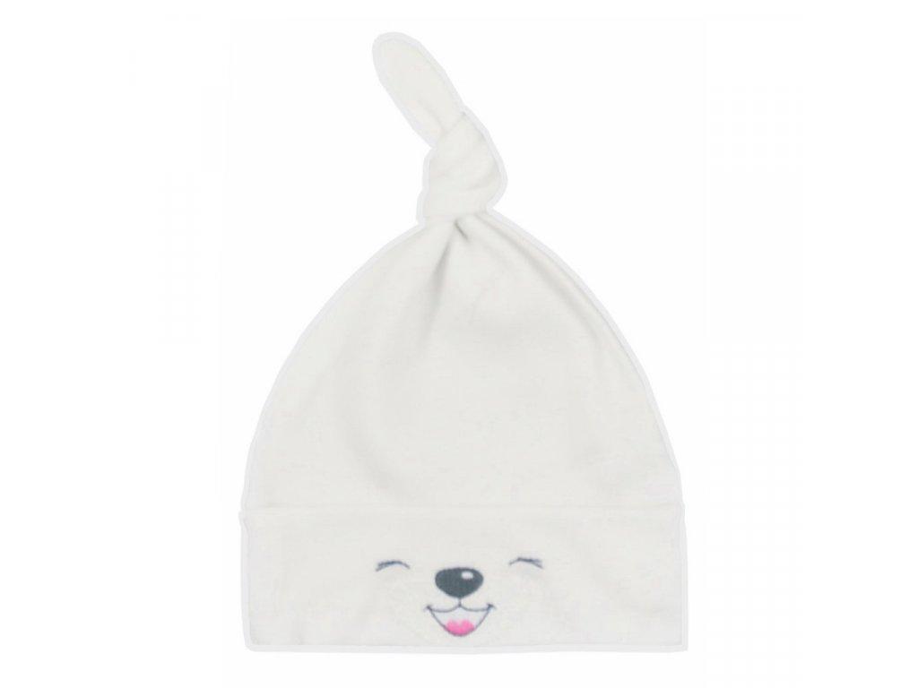 Bavlnená dojčenská čiapočka Bobas Fashion Lucky krémová
