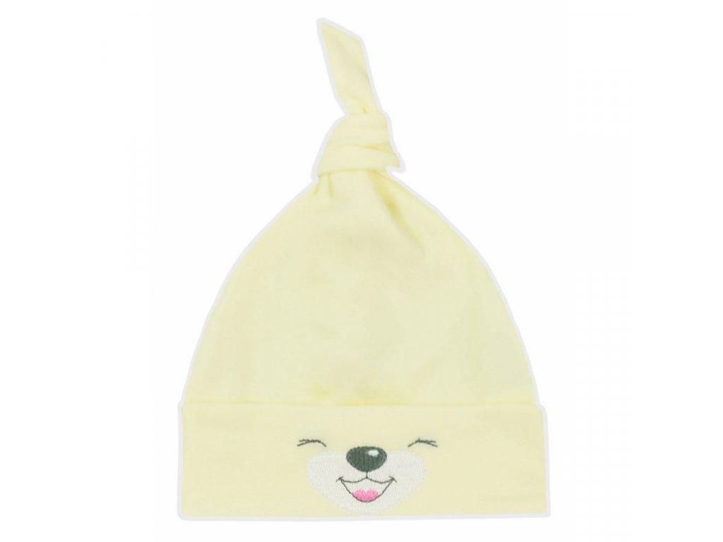 Bavlnená dojčenská čiapočka Bobas Fashion Lucky žltá
