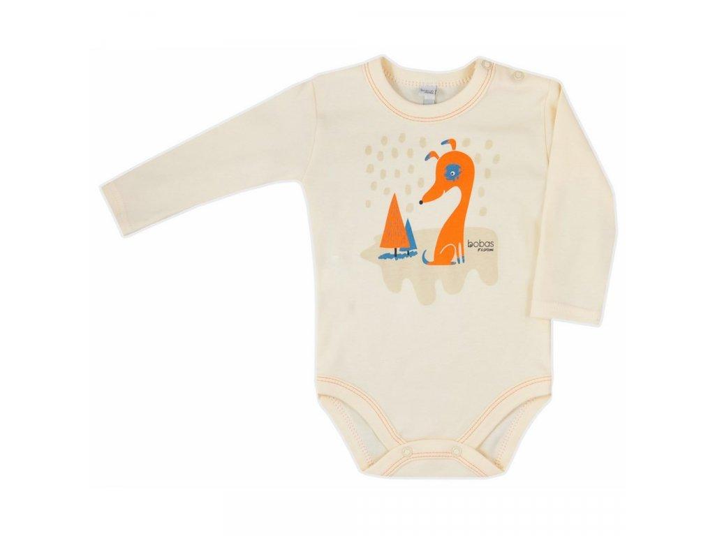 Dojčenské body Bobas Fashion Mini Baby smotanové