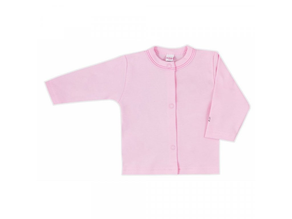 Dojčenský kabátik Bobas Fashion Mini Baby ružový