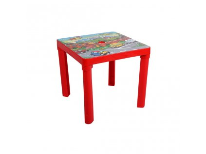 Detský záhradný nábytok - Plastový stôl červený