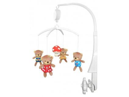 Kolotoč nad postieľku Baby Mix Medvedíky s muchotrávkou