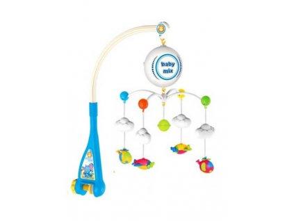 Elektrický kolotoč nad postieľku Baby Mix Lietadielka